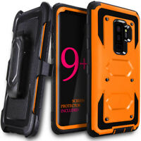 360 Shockproof Hybrid Holster Clip Hard Case Cover For Samsung Galaxy S9 S9 Plus