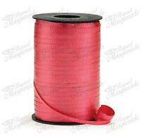 """3/16"""" 500 YDS (1500ft) Spool Balloons Wedding Crimped Curling Ribbon - Red"""
