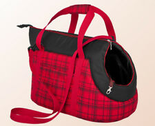 Carrier for Pet Puppy Dog Cat Travel With Comfort Hobbydog Portable Carry Bag 12 Red Tartan 1 - 20 X 36 Cm