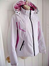 HYRA Jacket I 48 L Coat Performance Sports Ski Hooded Insulated White Pink