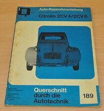 CITROEN 2 CV 4 2 CV 6 425 ccm 602 ccm Motor Reparaturanleitung B189 Handbuch