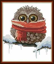 Maydear Stamped Cross Stitch Kits Beginners for DIY Embroidery - Owl