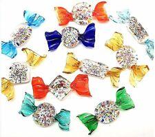 6 SWEETS Big 3 Inches Candy in MURANO Glass with GRANIGLIA by Morbideidee VENICE