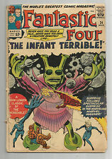 "FANTASTIC FOUR (V1) #24: Silver Age Classic ""The Infant Terrible""!!"