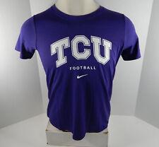 Texas Christian Univeristy TCU Women's Football Purple T-Shirt Nike New L