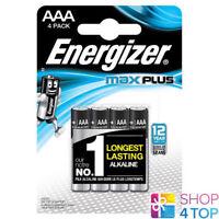 4 ENERGIZER MAX PLUS AAA LR03 BATTERIEN ALKALINE 1.5V MICRO MN2400 AM4 E92 NEU