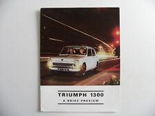 Brochure TRIUMPH 1300 a brief preview