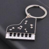 Metal Fashion Piano Car Keychain Keyfob Fob Key Chain Ring keyring Silver New