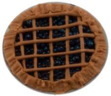 Dollhouse Miniature Blueberry Pie - 1:12 Scale