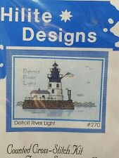 Hilite Designs Detroit River Lighthouse Counted Cross Stitch Kit Historic 1885