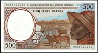 1994 Central African States 500 Francs Banknote * CHAD * UNC * P-601Pa *
