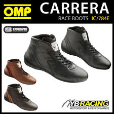 IC/784E OMP CARRERA VINTAGE RACE BOOTS CLASSIC LEATHER FIREPROOF FIA 8856-2018
