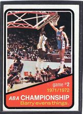 1972 -73  ABA CHAMPIONSHIP - Game 2 - Topps Basketball Card # 242 - N.Y./Indiana