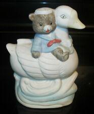 Nursery Room Ceramic Figurine Duck Swan Bear Cat