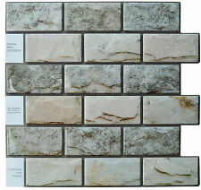 "Crystiles® Peel & Stick Tile Backsplash, Item# 91010861, 10"" X 10"", Set of 6"