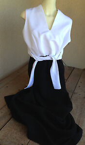 Vintage YL Black White NWT Evening Collection Dress Long AMAZING D4326 Size 14