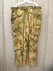 Woolrich Lightweight Realtree Camo Hunting Field Pants Mens 2XL Drawstring Cuff