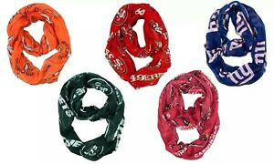 Women's Sheer Infinity Scarf - NFL - Football Pick your Team
