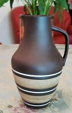 Retro/Vintage 1960's *STEULER - GERMANY* Brown Pottery Jug - Urn - Vase #4235-0