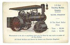 JI CASE Threshing Machine Co Steam Engine Tractor Advertising Vintage Postcard 2