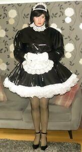 Stunning Hand Made PVC Lockable Maid Uniform with optional petticoats