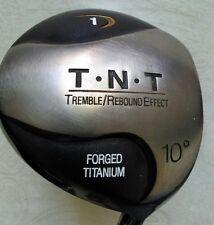 T.N.T. Forged Titanium 10º Driver Flex Plus Graphite Shaft Kelmac +.0625 grip RH