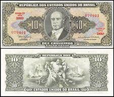 Brazil 1 Centavo on 10 Cruzeiros, 1967, P-183b, Circulated, Used