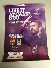 FC Barcelona v Manchester City 2015 posterUEFA Champions League Campions Final