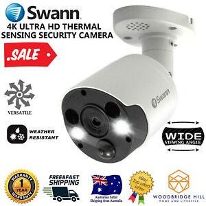 Swann 4K Ultra HD Thermal Sensing Spotlight Bullet Security Camera System CCTV