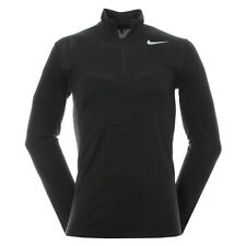NIKE GOLF DRI-FIT KNIT 1/2 ZIP TOP - SIZE EXTRA LARGE (XL) - BLACK (833280-010)
