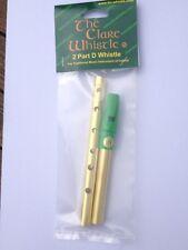 "Two Part Clare Tin Whistle - Irish - Green Mouthpiece - ""NEW"""