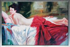 Auf dem Sofa ruhender Akt, Öl-Malerei, Andrej Iwanow St. Petersburger Malschule