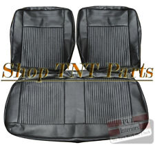 1962-1964 Chevrolet Nova Bench Seat Covers Chevy II Front Upholstery Skins Black