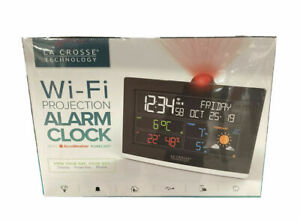 La Crosse Technology C82929-UK WiFi Projection Alarm Clock With AccuWeather