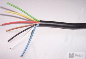 Fahrzeugleitung Anhänger Kabel  7 x 1,5 mm²  1 Meter lang 7 adrig, 7 polig