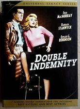 DOUBLE INDEMNITY [Universal Legacy Series] REMASTERED (2 Disc DVD Boxset) -MINT-