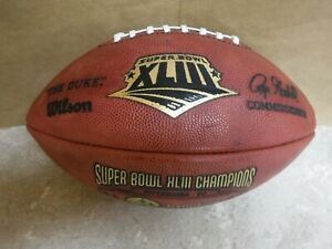 PITTSBURGH STEELERS SUPER BOWL XLIII FOOTBALL LIMITED EDITION GAME SCORE BALL