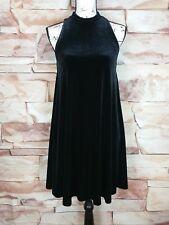 Cynthia Rowley Women's Sleeveless Black Velvet High Neck Swing Dress Size XS