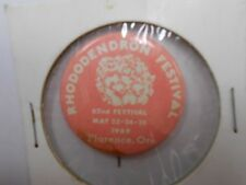 *VINTAGE* 62nd Rhododendron Festival Event Pin 1969 (HARD TO FIND) Check it out!