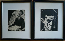 LISTED JEWISH MODERNISM, ARTHUR KOLNIK France Ukraine Modern WOODBLOCK PRINT Set