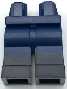 Lego New Dark Blue Hips Minifigure Legs Black Boots Pants Pattern