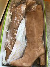 Sam Edelman Women's Hai Knee High Boot, Camel Sued US Size 6M