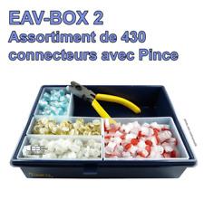 Boîte d'assortiment de 430 connecteurs téléphonie / signalisation + Pince