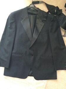 Dinner Jacket suit with cummerbund & bow tie All Black