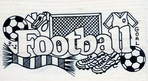 Personal Impressions / Sue Dix - Rubber Stamp on Wood  - Football - P1523P