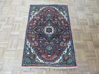 2'7 x 3'11 Hand Knotted Rust Red Antiqued Geometric Serapi Oriental Rug G8261