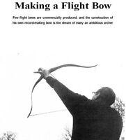Bow Arrow Archery Plans Wood Metal Long Flat Cross Flight Bow Manuals