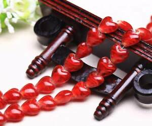 16x14mm Heart Shape Lampwork Glass Loose Spacer Beads Crafts Jewelry Findings