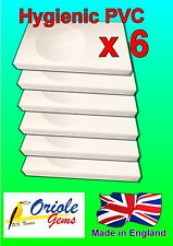 Pack of 6 PVC Budgie nest box concaves