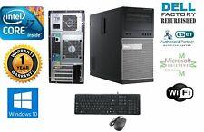 Dell 990 TOWER i7 Quad  3.40GHz 8GB 120GB SSD+ 2TB Storage Win 10 Pro 64+MONITOR